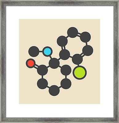 Ketamine Anesthetic Drug Molecule Framed Print by Molekuul