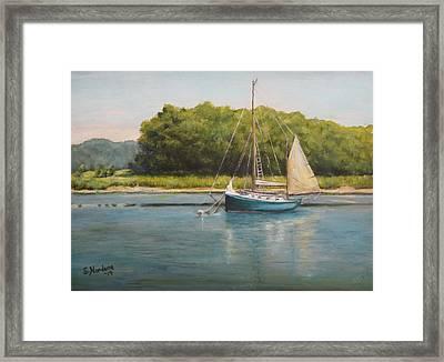 Ketch At Anchor Framed Print