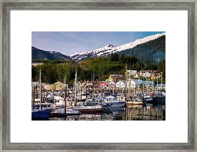 Ketchikan Alaska Dock Framed Print by Michael J Bauer