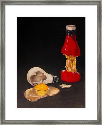 Ketchup And Eggs Framed Print