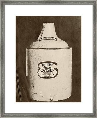 Ketchup Bottle Framed Print by Us National Archives