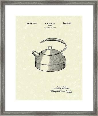 Kettle 1935 Patent Art Framed Print