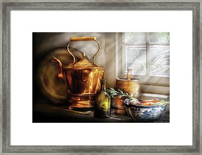 Kettle - Cherished Memories Framed Print by Mike Savad