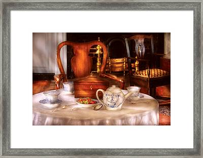 Kettle -  Have Some Tea - Chinese Tea Set Framed Print by Mike Savad