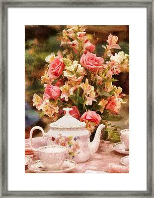 Kettle - More Tea Milady  Framed Print by Mike Savad