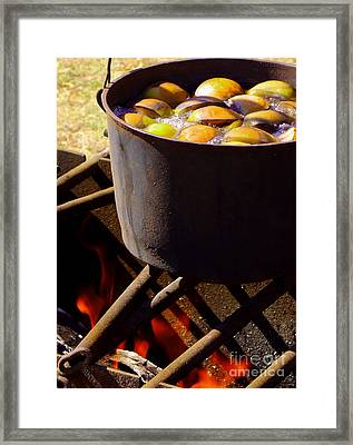 Kettle On The Fire Framed Print