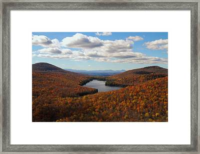 Kettle Pond At Owls Head In Autumn Framed Print