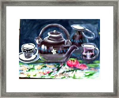 Kettle Set Framed Print by M bhatt