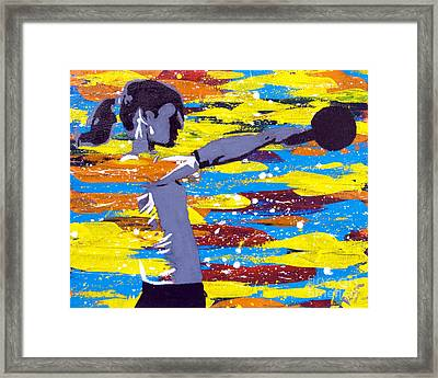Framed Print featuring the painting Kettlebell by Denise Deiloh