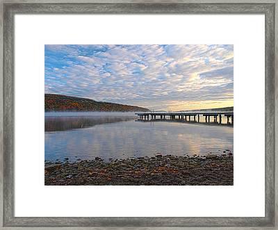Keuka Dawn Framed Print by Joshua House