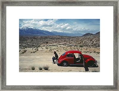 Framed Print featuring the photograph Kevin And The Red Bug by David Bailey