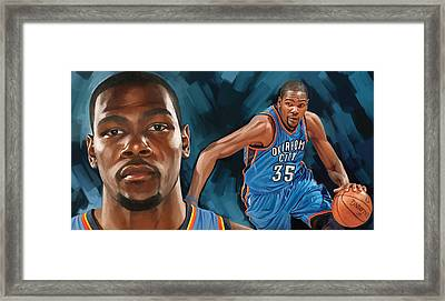 Kevin Durant Artwork Framed Print by Sheraz A
