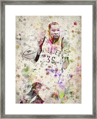 Kevin Durant In Color Framed Print by Aged Pixel