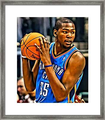 Kevin Durant Portrait Framed Print