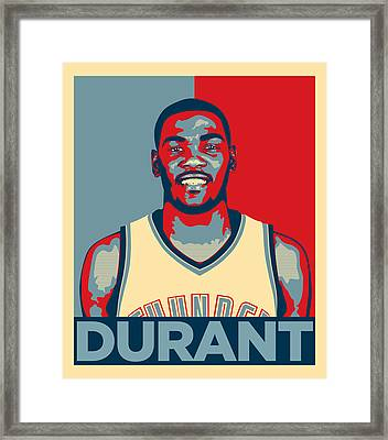Kevin Durant Framed Print by Taylan Apukovska