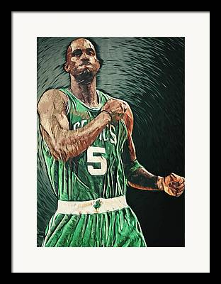 Paul Pierce Digital Art Framed Prints