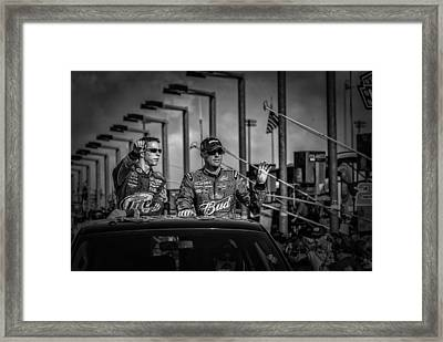 Kevin Harvick And Brad Keslowski Framed Print by Kevin Cable