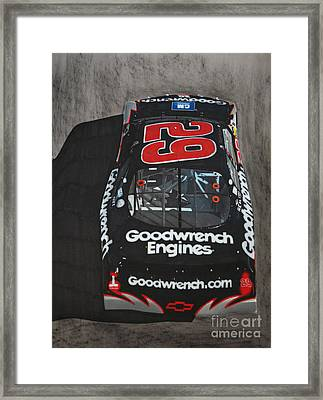 Kevin Harvick Goodwrench Chevrolet Framed Print by Paul Kuras