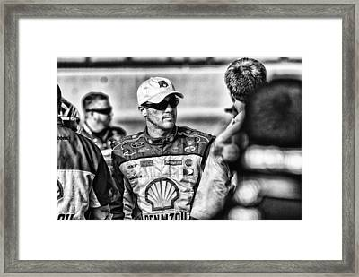 Kevin Harvick Nascar Framed Print by Kevin Cable