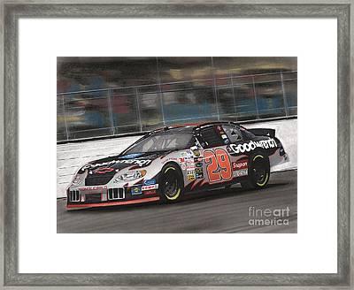 Kevin Harvick Racing Framed Print by Paul Kuras