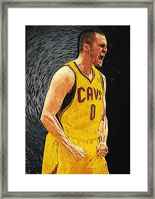 Kevin Love  Framed Print by Taylan Apukovska