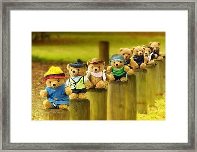 Kevs Teddys 02 Framed Print