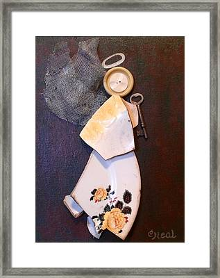 Key Angel Framed Print