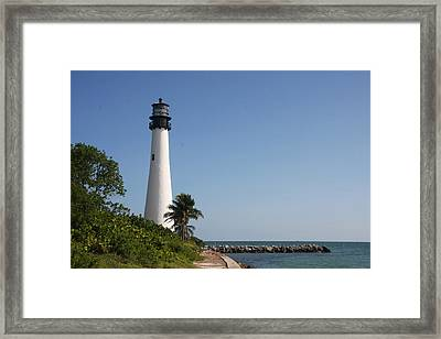 Key Biscayne Lighthouse Framed Print by Christiane Schulze Art And Photography