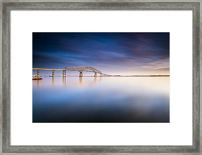 Key Bridge 2014 Framed Print