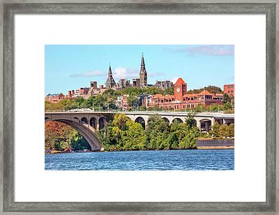 Key Bridge, Potomac River, Georgetown Framed Print