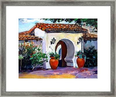Key Hole Archway 415 Framed Print