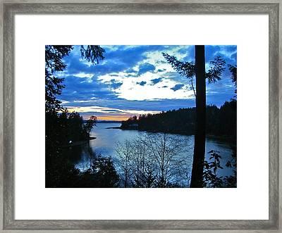 Key Peninsula Framed Print by Floria Varnoos