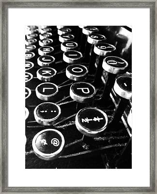 Key Strokes  Framed Print