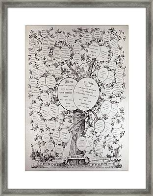 Key To Genealogical Tree, Showing The Descendants Of Her Majesty Queen Victoria 1819-1901, From The Framed Print by English School