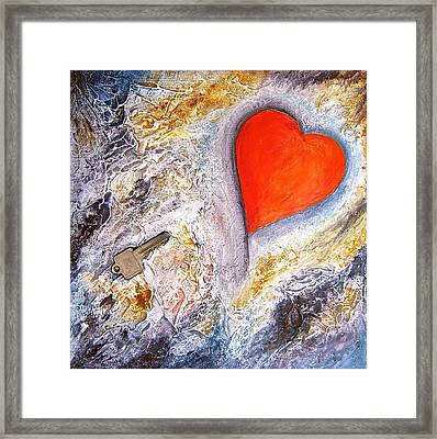 Key To My Heart Framed Print by Heather Matthews