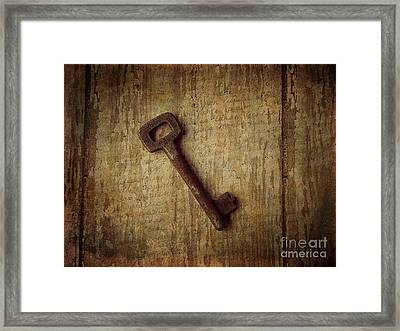 Key To My Secret Framed Print by Lorraine Heath