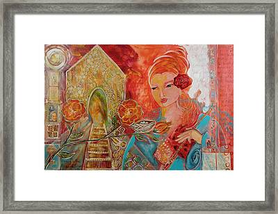 Key To The House Of Honey Framed Print by Shiloh Sophia McCloud