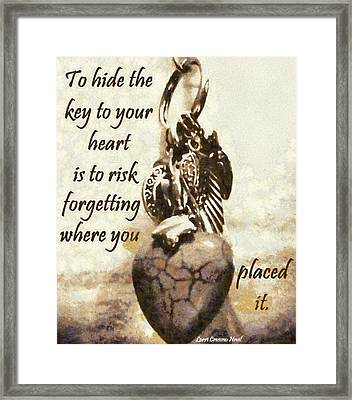 Key To Your Heart Framed Print by Lorri Crossno