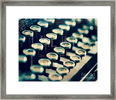 Key Type Framed Print by Sonja Quintero