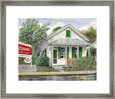 Key West 1955 Framed Print