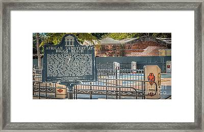 Key West African Cemetery 7 - Key West - Panoramic - Hdr Style Framed Print