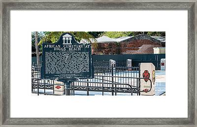 Key West African Cemetery 7 - Key West - Panoramic  Framed Print