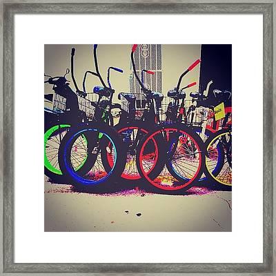 Key West Bikes For Rent Framed Print