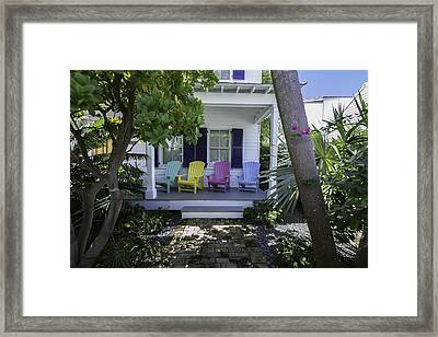 Key West Chairs Framed Print by Paul Plaine
