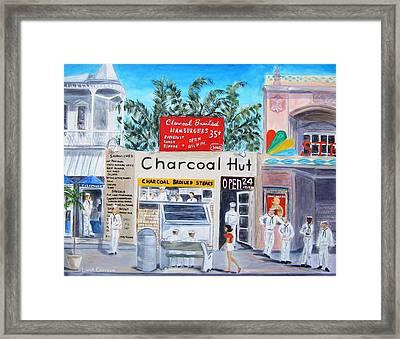 Key West Charcoal Hut Framed Print