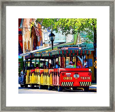 Key West Conch Train Framed Print