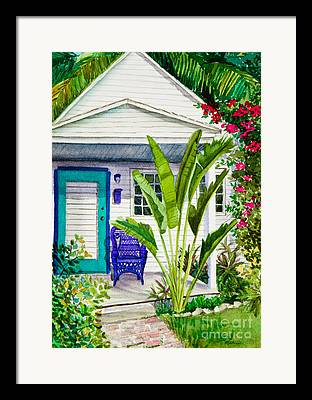 Green Foliage Paintings Framed Prints