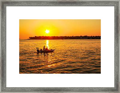 Key West Gold Framed Print by Robert Hebert