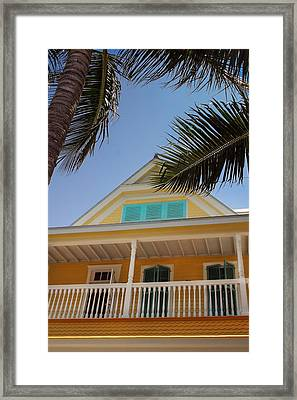 Framed Print featuring the photograph Key West House by Glenn DiPaola