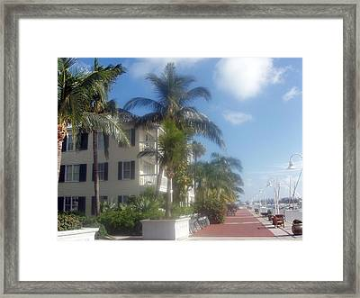 Framed Print featuring the photograph Key West In Florida by Teresa Schomig